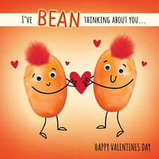 Valentine's Day Card I've Bean Thinking About You Funny Cute Valentines