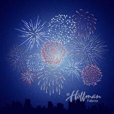 "Supernova Seasons, Hoffman Fabric, Spectrum Digital Panel 44"" x 44"", Fireworks"