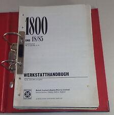 Manual de Taller Austin/Morris 1800 + Wolseley 18/85 Mk i + Mk II Tipo Ado17