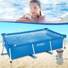 Intex 260x160x65 Swimming Pool mit pumpe Schwimmbecken Frame Stahlwandbecken