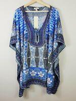 [ BEME ] Womens Embellished Kaftan Top NEW + TAGS    Size L / XL or 22 - 24 - 26
