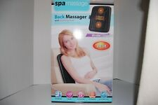 Spa Massage Back Massager Chair Pillow W/ Vibration And Soothing Heat Nib!