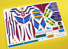 Micronauts vintage 1970's style BATTLE CRUISER replacement sticker decal set