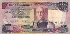 BILLET BANQUE ANGOLA 1000 escudos 1972 état voir scan 403