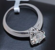 Solitaire Diamond Engagement Ring 1.5ct 14k White Gold Toned Round Cut Size 8.5