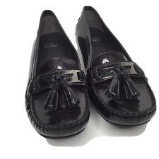 Stuart Weitzman Women's Size 8.5 M Patent Leather Dark Grey Loafer Shoes Spain