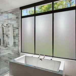 Frosted Vinyl, Etched Window Film, Self-Adhesive 24/7 Privacy Glass Tint
