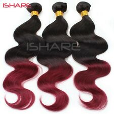 Human Hair Brazilian Body Wave Weave Weft Extension T 1B 99 J Two Tone Ombre