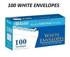 #6-3/4 Self Seal White Envelopes, 3-5/8 x 6-1/2 In - 9.2x16.5 cm - FAST SHIP