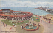 1930 used Salmon postcard #3116 ~ Band enclosure Ryde I of W by Quinton