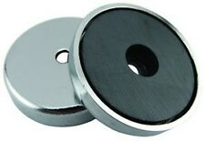 12 Round Base Magnets Strong 65 lbs pull- heavy duty - CHROME PLATED- FOR RESALE