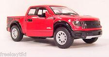 RED 2013 '13 Ford F-150 SVT Raptor Supercrew Truck Diecast Model 1/46 Pull Back