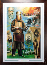 AUSTRALIAN HISTORY NED KELLY PAINTING FRAMED PRINT LIMITED EDITION HAND SIGNED