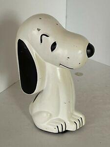 Vintage Snoopy Dog Beagle Piggy Ceramic Bank Peanuts