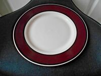 Thomson pottery Avalon Red Wine Colored Dinner Plate