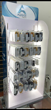 200Ct. Aqvaze Led Cell Phone Accessories Counter Display Rack Cables Wholesale