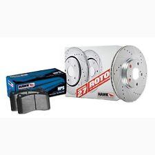 Disc Brake Pad and Rotor Kit-Sector 27 Brake Kits Rear Hawk Perf HK4055.674F