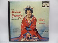 Puccini Madama Butterfly Complete Recording - Tullio Serafin - 3 LP Boxed Set NM