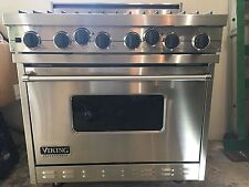 """USED 36"""" VIKING PROFESSIONAL DUAL FUEL OVEN STAINLESS 6 BURNER 2004 VDSC3676BSS"""