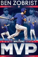 """2016 World Series Champions Chicago Cubs """" MVP """"  Zobrist 24x36 Poster T15358"""