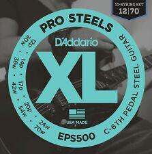 D'Addario EPS500 Pro Steel Pedal Steel Guitar Strings C-6th 10-String Set 12-70