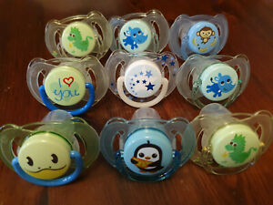 9X Philips Avent Soother 6m-18m Boy