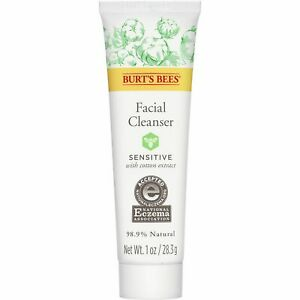 Burt's Bees Face Cleanser for Sensitive Skin Eczema Approved Travel Size 1.0oz