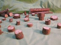 HO Scale Tree Stumps Logging Operation REAL PINE WOOD Sawmill Lumber Mill Shay