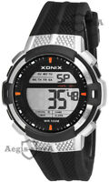 Men's XONIX watch, digital, stopwatch, alarm, dual time, timer, WR100M