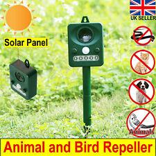 Solar powered Animal Repeller Cat Dog Snake Scarer Ultrasonic Pest away Repeller