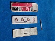 1963 1964 Chevy NOS Accessory Dial-A-Chevy Deal Adding Machine Very Rare