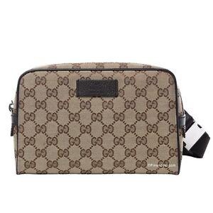 NEW Gucci Mens GG Supreme Guccissima Fanny Pack Crossbody Waist Belt Bag
