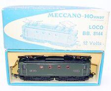 Hornby Meccano France HO SNCF BB 8144 PASSENGER TRAIN LOCOMOTIVE #6386 MIB`65!