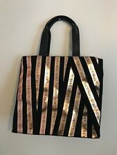 Victoria's Secret PINK tote hand bag Canvas Ribbon school work shopper NEW