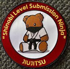 "Jiujitsu Gi Shinobi Level Submission Ninja Patch for Bjj Mma Taekwondo Judo 6"""