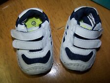 NEW in BOX STRIDE RITE BABY STAGES WHITE & NAVY LEATHER PLAY ZONE SHOES sz 1 MW