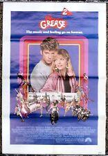 VINTAGE ORIGINAL GREASE 2 ONE SHEET MOVIE POSTER 1982 MICHELLE PFEIFFER MUSIC