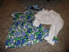 GYMBOREE 12-18 6-12 FLORAL DRESS SWEATER HAT LOT TIGHTS SPRING PREP