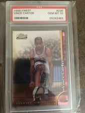 1998-1999 Finest #230 Vince Carter RC Rookie PSA 10 Gem Mint Toronto Raptors