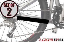 Zoom Sport Self Adhesive Bike Chain Stay Protector (Set of 2), Satin Black