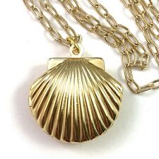 RESERVED FOR  MELISSA - SEASHELL LOCKET CHARM NECKLACE