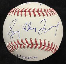 Greg Maddux Signed Baseball Braves Maddog Autograph HOF 3 Career STATS PSA/DNA