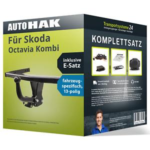 Anhängerkupplung starr für SKODA Octavia Kombi +E-Satz (AHK+ES) KIT NEU