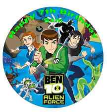 Ben 10 Personalised Wafer Paper Topper For Large Cake Various Sizes 7.5""