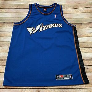 NIKE Authentic WASHINGTON WIZARDS Jersey Rare Vtg 2001-02 BLANK Away Blue NBA 52