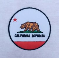 California Republic USA State Flag American USA Embroidered Iron On Sew On Patch