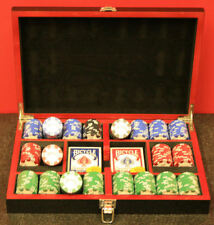 Bicycle 300 8-Gram Clay Composite Poker Chip Set in a Black Lacquer Box