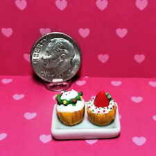 Dollhouse Miniature Food 1:12 Toy A Plate Of Cookie Length 2.6cm SPO692