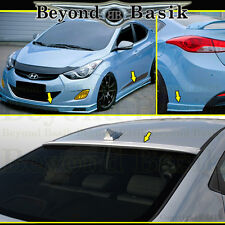 Fits 2011-2013 Hyundai Elantra 5pc Sequence Style Aero Lip Body Kit+Roof Spoiler
