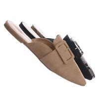 Pippa395 Pointed Toe Slide In Mule - Women Backless Flat slipper Shoes